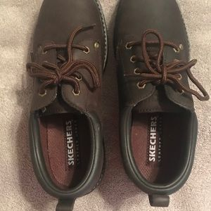 Skechers Shoes - GUC - Sketchers Brown Leather Tom Cats - 9.5